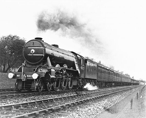This class A1 4-6-2 locomotive No 4472 built for the London & North Eastern Railway was used on the Flying Scotsman service - a non- stop journey of 392.7 miles, from London King's Cross to Edinburgh