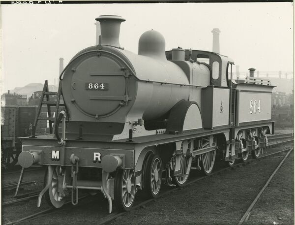 Midland Railway Class 4, 4-4-0 steam locomotive number 998. Built Derby in April 1909