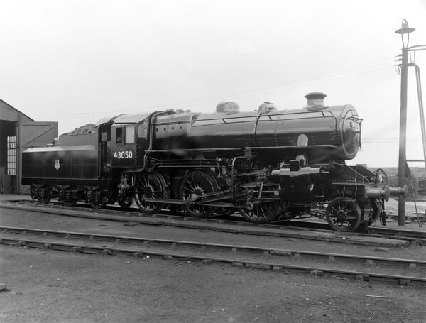 Right almost broadside view of British Rail (BR) locomotive. Doncaster built