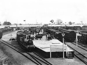 Agricultural equipment at Derby, 1906