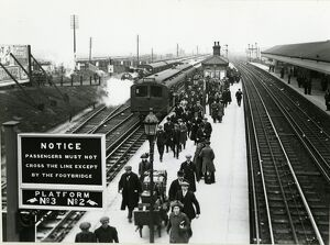 Aintree Sefton Arms station, Lancashire & Yorkshire Railway, April 1913