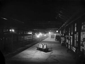 Derby station at night, 1908
