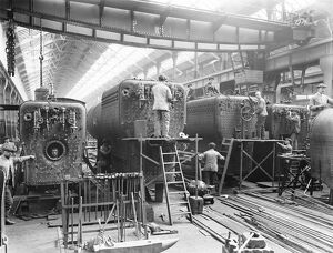 Erecting shop at Horwich works, Lancashire, August 1919