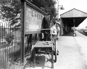 Esher station on the Southern Railway, Surrey, c.1940
