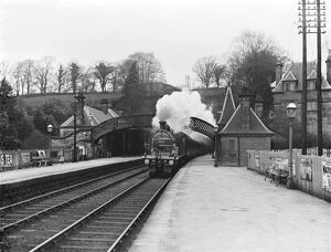 Express train at Cromford station, 1911