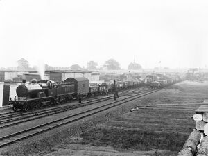 Freight train at Derby, 1906