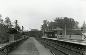 Gisburn station, Lancashire & Yorkshire Railway, on the Blackburn to Hellifield line
