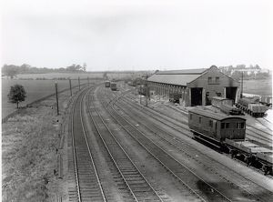 Ipswich railway goods shed, about 1911