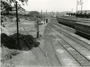 Ipswich station, about 1911