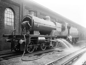 Locomotive cleaning, 1911