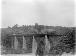 Locomotive no. 6344, Ilfracombe to Padding train on Castle Hill viaduct c.1926