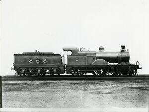 Midland Railway Class 2, 4-4-0 steam locomotive number 502. Specially painted for