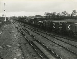Midlenhall railway sidings at the west end of the goods and coal yard, beyond the