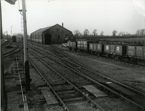 Mildenhall, overlooking the approaches to the station from the foot of the signal box