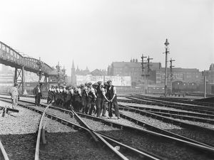 Permanent way workers at Bolton station, 1914