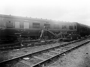 Railway accident at Little Salkeld, July 1933