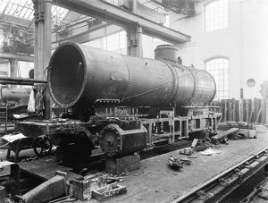 Schenectady engine under construction, about 1898