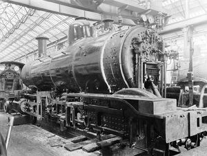 Schenectady engines under construction, about 1898