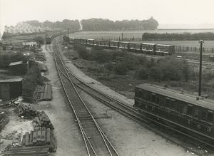 The stub of the old Newmarket line used as a head shunt and for carriage storage