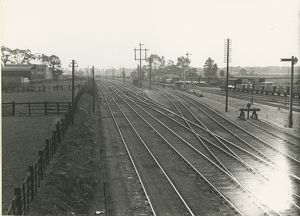 View south of Cambridge station taken from near Hills Road signal box. The LNWR running